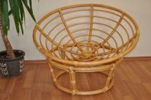Ratanový papasan 110 cm medový - konstrukce bez polstru (AKČNÍ CENA)
