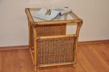 Ratanový stolek Oliver brown wash malý (AKČNÍ CENA)