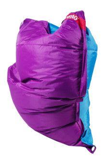 Sedací pytel 189x140 duo purple - turquoise