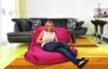 Sedací pytel 189x140 comfort s popruhy pink