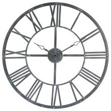 Šedé kovové hodiny Vintage 70 cm