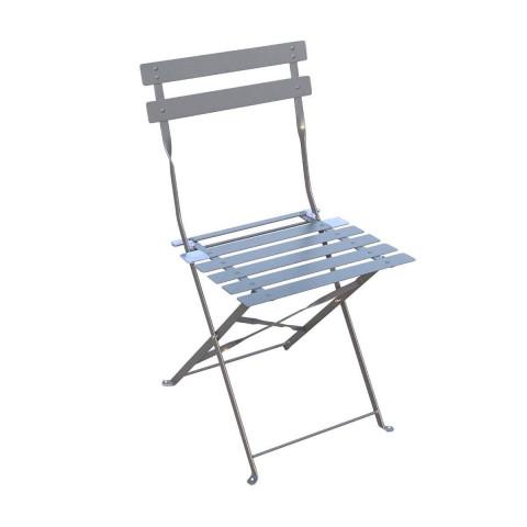 Skládací hranatá kovová židle CAMARGUE ardoise