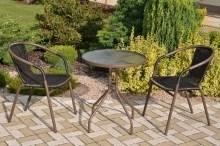 Zahradní nábytek kov + umělý ratan 2+1 (AKČNÍ CENA)