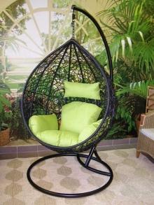 závěsné relaxační křeslo TARA - zelený sedák