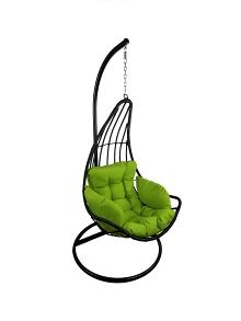 Závěsné relaxační křeslo ELZA - zelený sedák