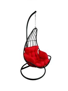 Závěsné relaxační křeslo ELZA - červený sedák
